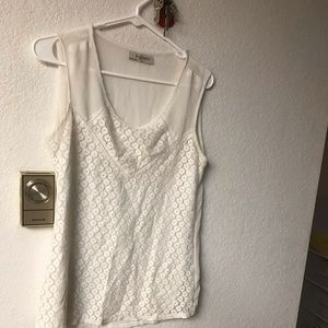 White lace tank top. Size SMALL.